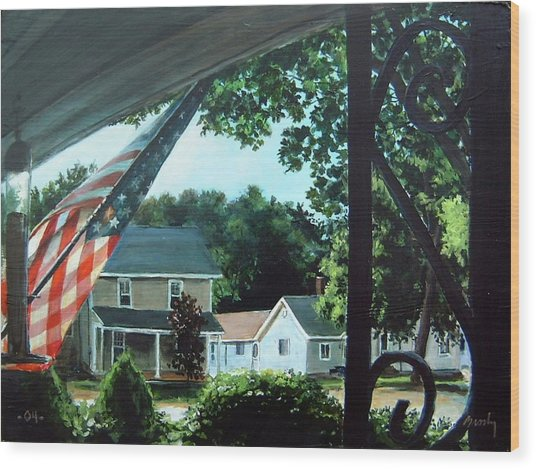 Fourth Of July Morning Wood Print by William  Brody