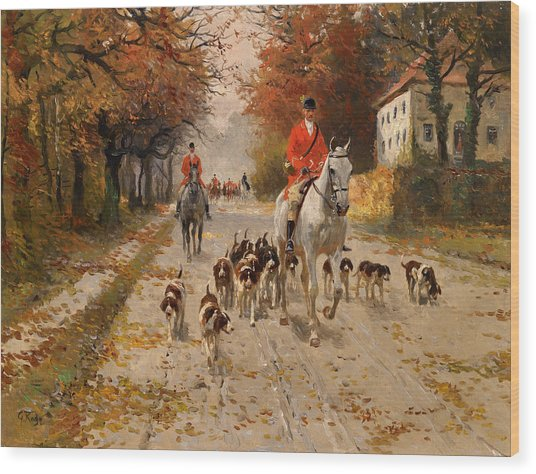 Fox Hunt Wood Print