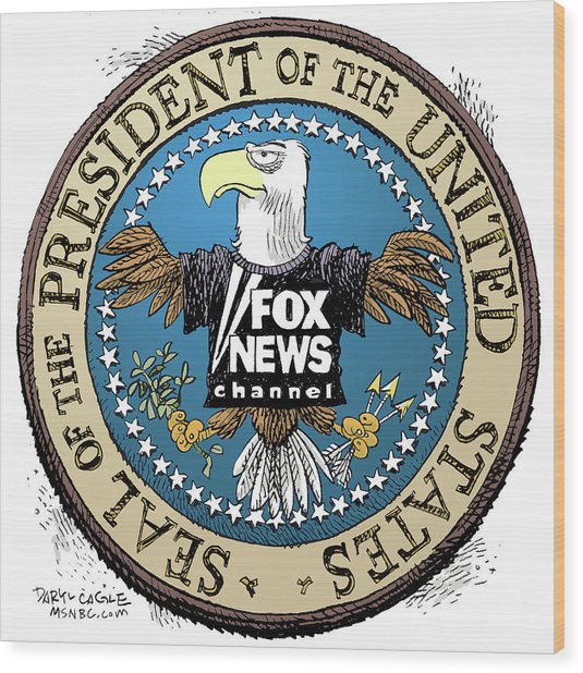 Fox News Presidential Seal Wood Print