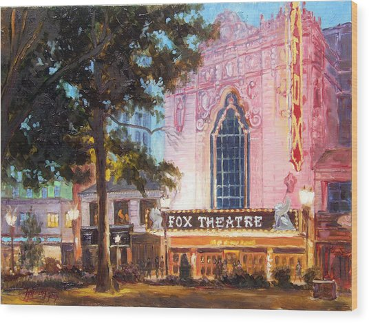 Fox Theatre In St.louis Wood Print