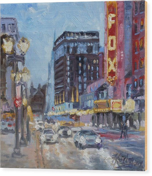 Fox Theatre On Grand Boulevard St.louis Wood Print