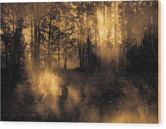 Foxfire Wood Print