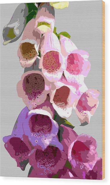 Foxglove Wood Print