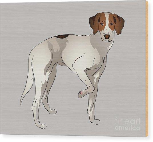 Foxhound Wood Print