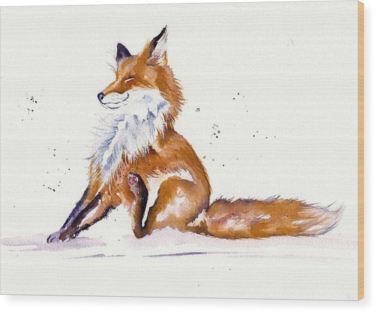 Foxy Flea Magnet Wood Print