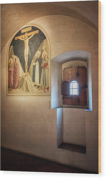 Fra Angelico Fresco Florence Italy Wood Print