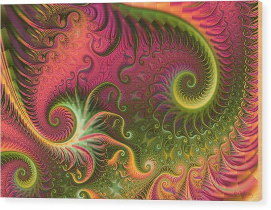 Fractal Ameba Wood Print