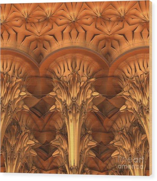 Fractal Architecture Wood Print