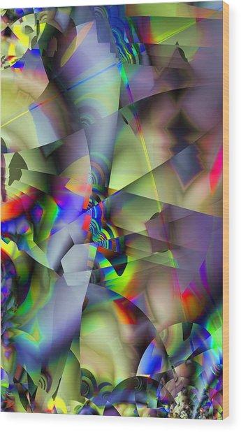 Fractal Cubism Wood Print