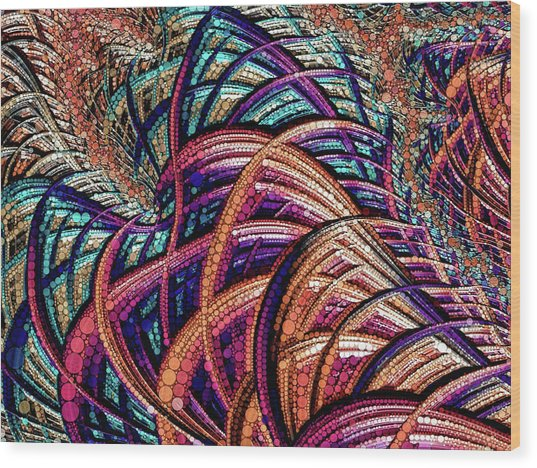 Fractal Farrago Wood Print