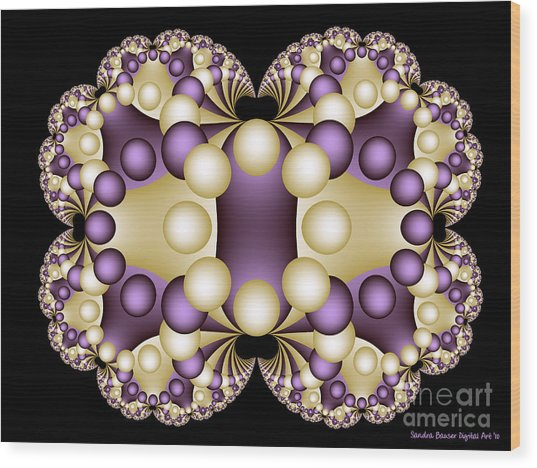 Wood Print featuring the digital art Fractal Pearls by Sandra Bauser Digital Art