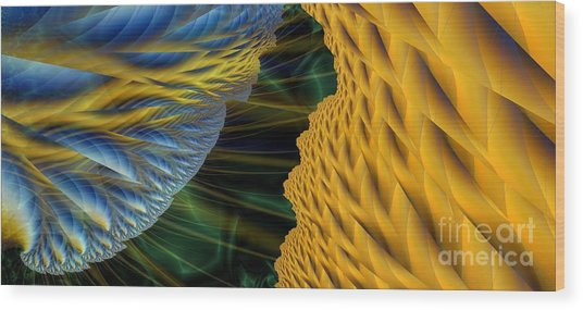 Fractal Storm Wood Print