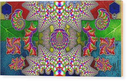 Fractaleaf Wood Print by Andrew Murray