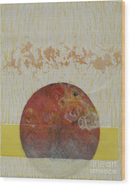 Fragile Conditioning- 4 Wood Print by Asma Hashmi