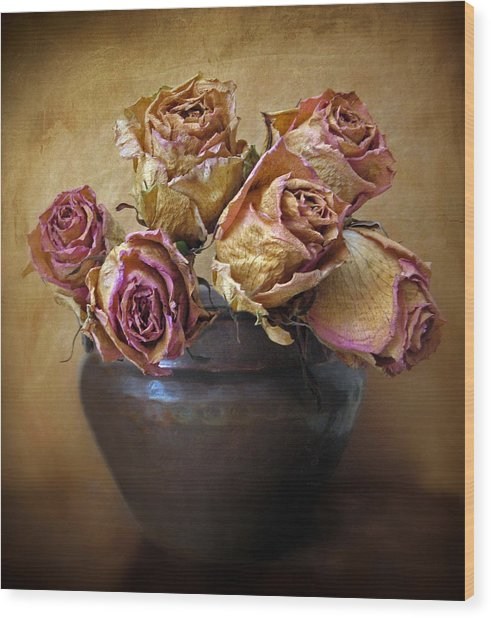 Fragile Rose Wood Print
