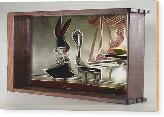 Framed Bunny Abstract Wood Print