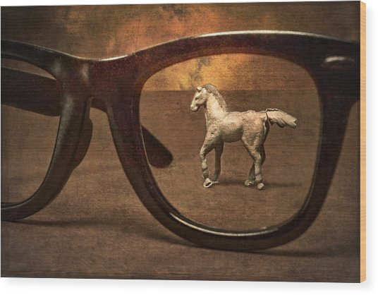 Framed In A Dream Wood Print