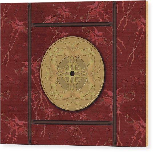 Framed Zenfly Bi Coin Wood Print