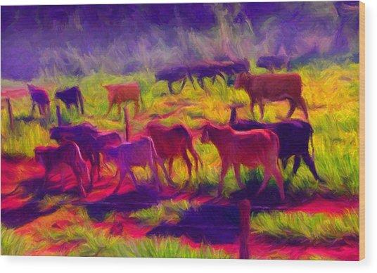 Franca Cattle 1 Wood Print