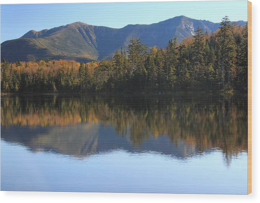 Franconia Ridge From Lonesome Lake Wood Print
