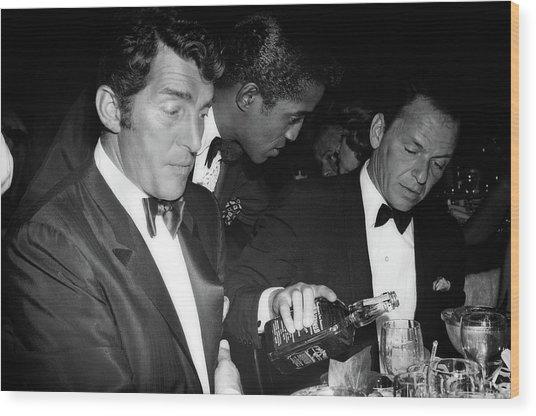 Frank Sinatra Drank American Whiskey His Way Wood Print