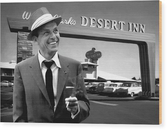 Frank Sinatra In Las Vegas Wood Print