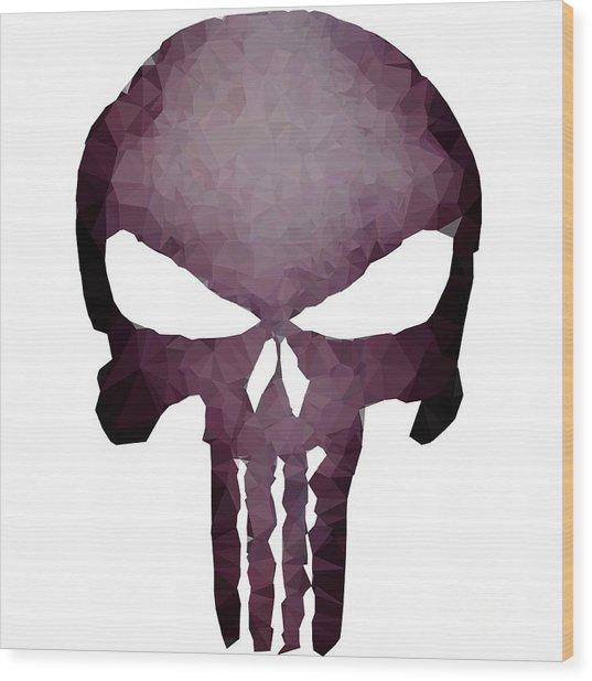Frank Skull Wood Print