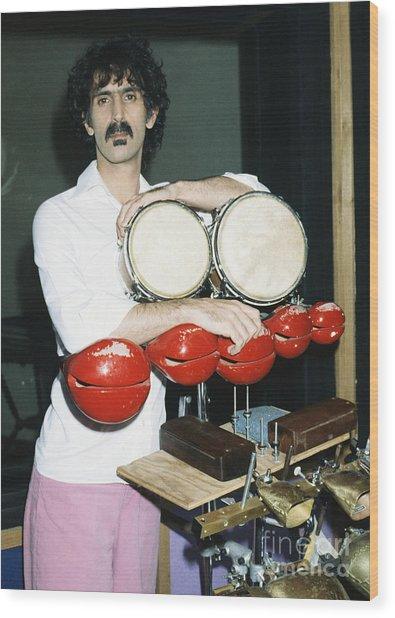 Frank Zappa 1982 Wood Print