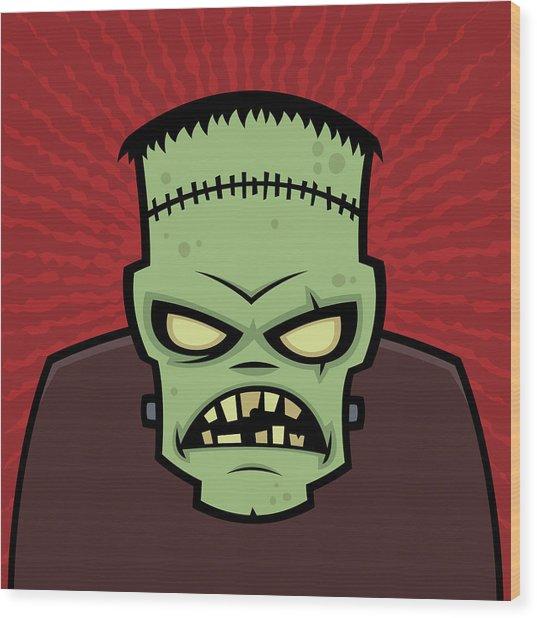 Frankenstein Monster Wood Print