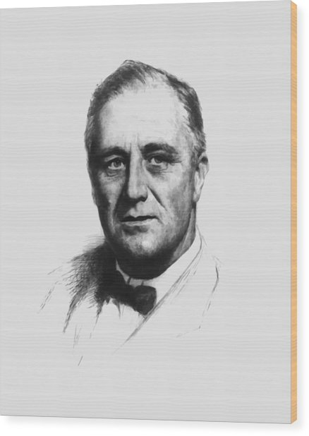 Franklin Roosevelt Wood Print