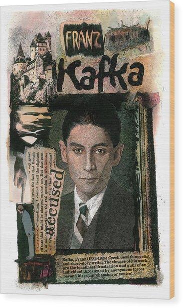 Franz Kafka Wood Print
