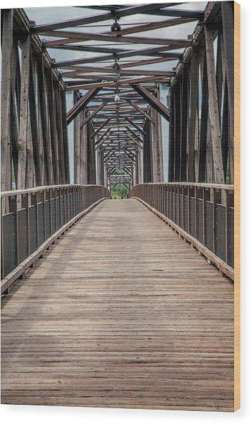 Fraser River Footbridge Wood Print