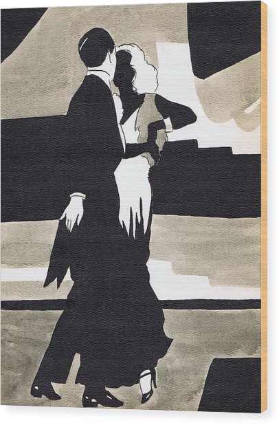 Fred And Ginger Wood Print
