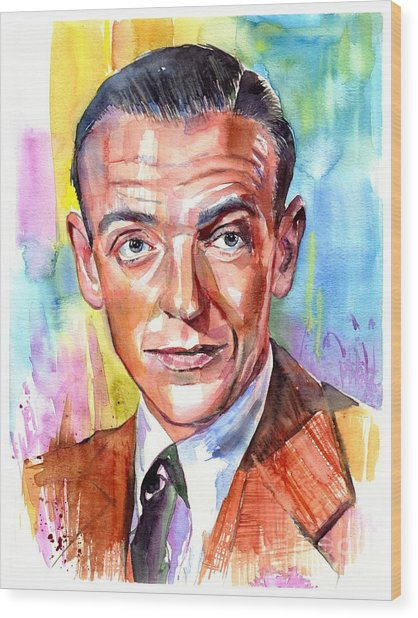 Fred Astaire Painting Wood Print