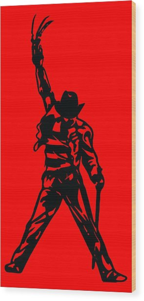 Freddy Krueger Wood Print