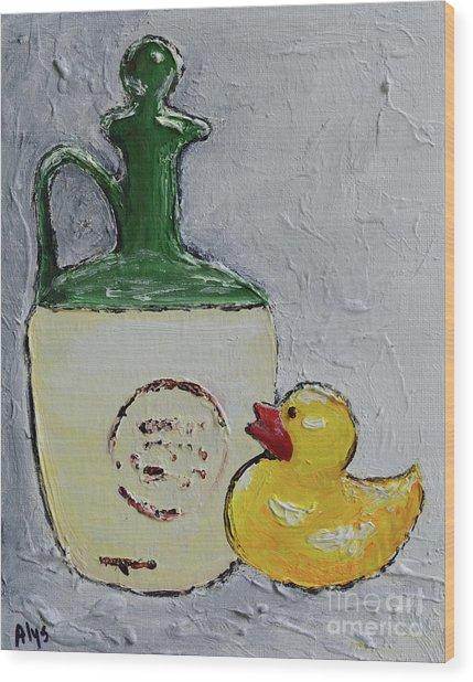 Free Duck Wood Print