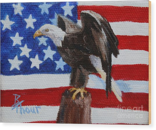 Freedom Aceo Wood Print
