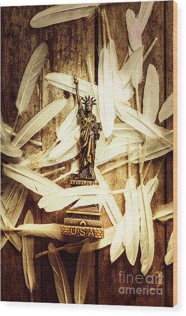 Freedom And Independence Wood Print