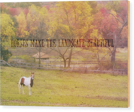 Freedom Farms Quote Wood Print by JAMART Photography