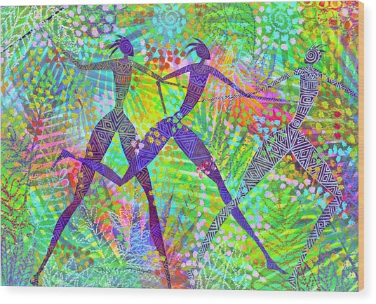 Freedom In The Rain Forest Wood Print by Jennifer Baird