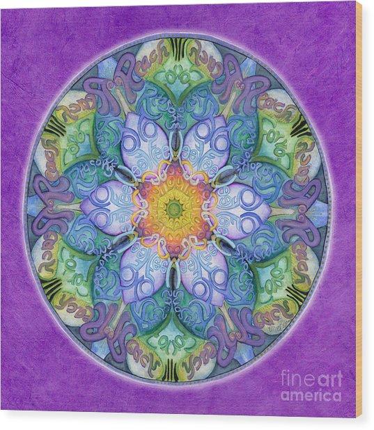 Freedom Mandala Wood Print