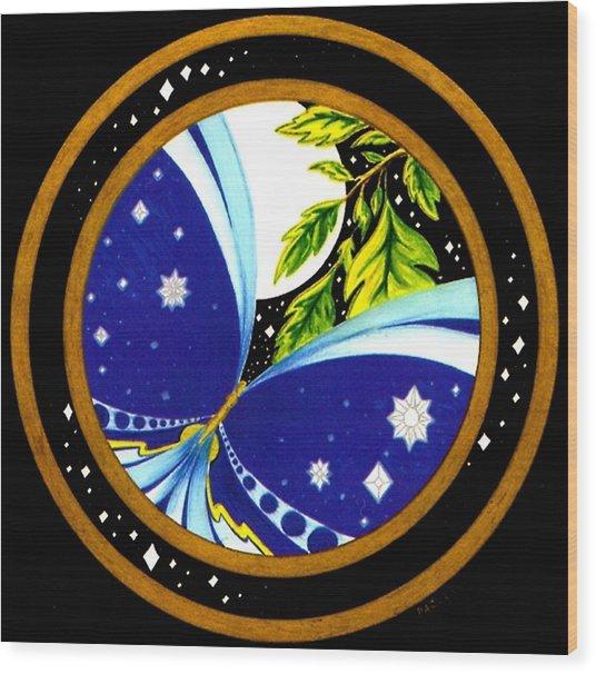 Freedom  Mandala Series Number Eleven Wood Print by Pam Ellis