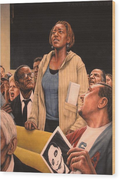 Freedom Of Speech 2010 Wood Print by Dan  Nance