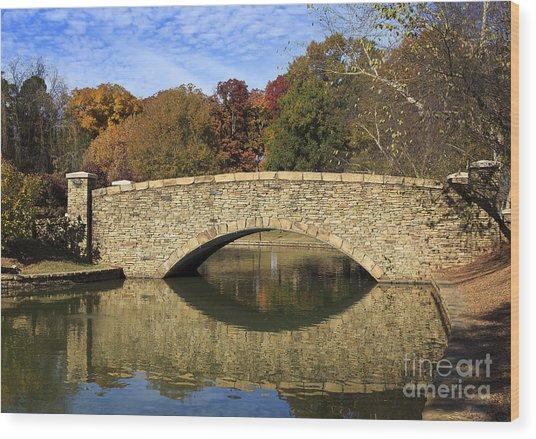 Freedom Park Bridge Wood Print