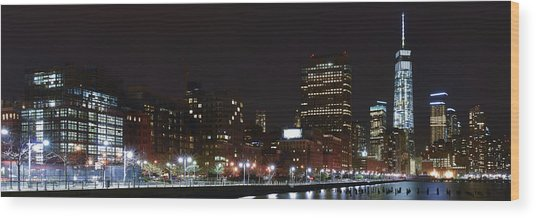 Freedom Skyline Wood Print