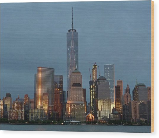 Freedom Tower At Dusk Wood Print