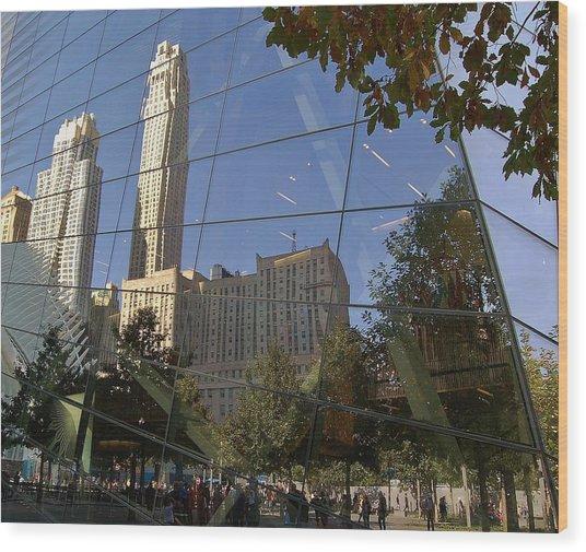 Ground Zero Reflection Wood Print