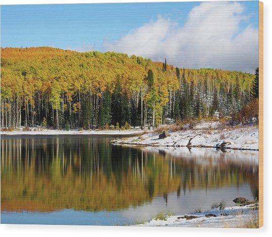 Freeman Lake In Northwest Colorado In The Fall Wood Print