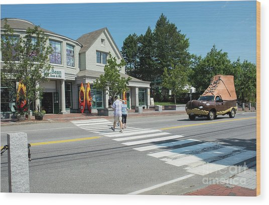 Freeport, Maine #130398 Wood Print