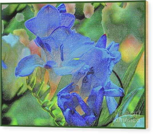 Freesia's Of Beauty Wood Print